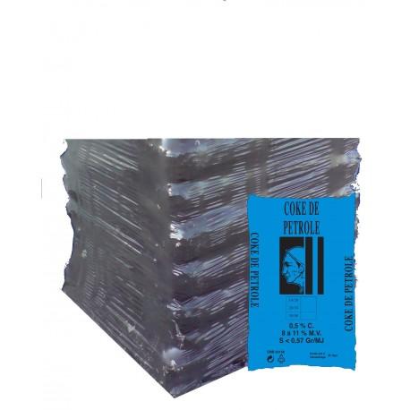 COKE PETROLE 30/60 DEMI PALETTE DE 20 SACS DE 25 Kg