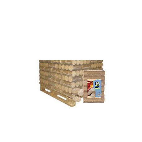 BÛCHES COMPRESSEES NESTRO 100% BOIS TENDRES DEMI PALETTE DE 50 PACKS DE 5 BÛCHES